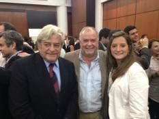 Con Luis Lacalle, ex Presidente del Uruguay, y el Diputado Nacional Jaime Trobo.