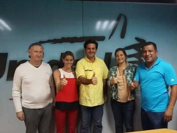 Con el Diputado Jony Rahal (Estado de Nueva Esparta), y Alfredo Díaz, Alcalde del Municipio de Mariño (Venezuela).