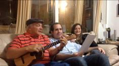 Con el Maestro del cuatro venezolano, Hernán Gamboa
