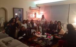 Comida de mujeres políticas en casa de Lilita