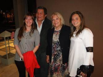 """Con Luis """"el indio"""" Gomez, y Lilita"""